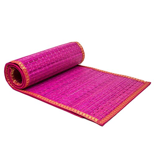 ShalinIndia Hand Woven Eco Home River Grass Table Runner Wit