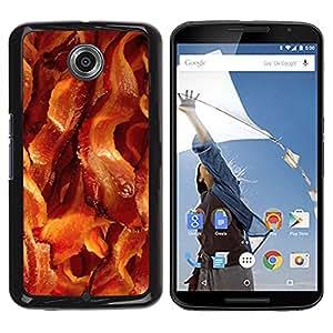 Caucho caso de Shell duro de la cubierta de accesorios de protección BY RAYDREAMMM - Motorola NEXUS 6 / X / Moto X Pro - Meat Crispy Brown Food