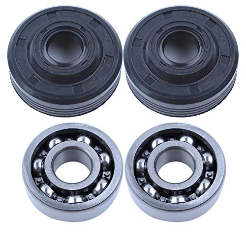 2Set Crankcase Crank Main Bearing Oil Seals for Husqvarna 36 41 136 136E 137 137E 141 141E 142 235E 240E Chainsaw Parts 530056363 ()