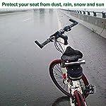 LYTIVAGEN-2-Pezzi-Coprisella-Impermeabile-Bicicletta-Copertura-per-Sellino-Protezione-Antipioggia-Antipolvere-per-Bici-Mountain-Bike-Bici-da-CorsaSuperficie-Nera-Interno-Argento