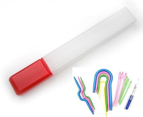 Todos en Uno estuche tubular para agujas de tejer y tejer herramienta Kit de accesorios: Amazon.es: Juguetes y juegos