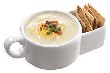 Amazon.com: Soup and Cracker Mug or Cereal Bowl by Kitchen Gadgets ...