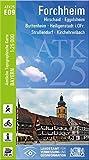 ATK25-E09 Forchheim (Amtliche Topographische Karte 1:25000): Hirschaid, Eggolsheim, Buttenheim, Heiligenstadt i.OFr., Strullendorf, Kirchehrenbach (ATK25 Amtliche Topographische Karte 1:25000 Bayern)