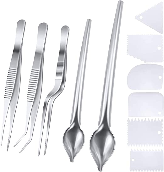 7 Piece Rivoean Culinary Specialty Tools,Professional Chef Plating Kit Stainless Steel