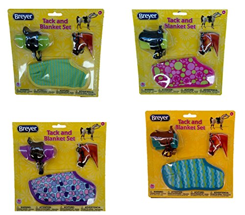 Breyer 1:12 Classic Model Horse Tack / Blanket and Bridle Play Set Assorted