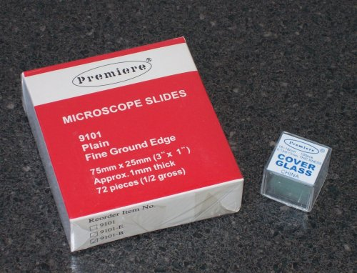 Microscope Slides and Microscope Coverslips Set