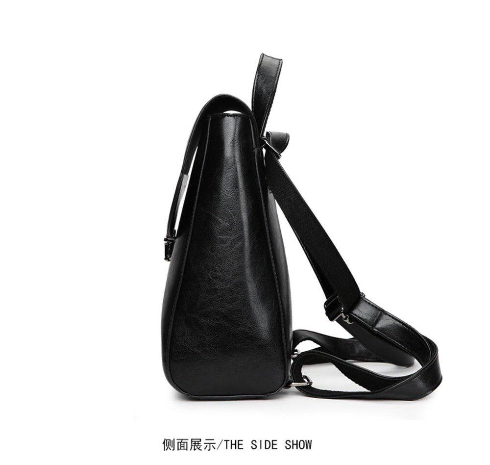 SJMMBB Multi-Functional Backpack Fashion Student Bag,Black,29X23X12Cm by SJMMBB (Image #2)