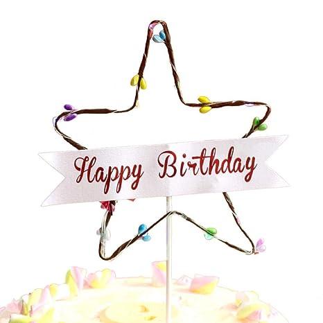 KOBWA - Decoración para Tarta de cumpleaños, diseño de ...