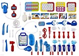 WolVol (Set of 45 Pretend & Play Doctor Set for Kids with Electric Stethoscope Toy and Medical Doctor's Equipment, Lights and Sounds