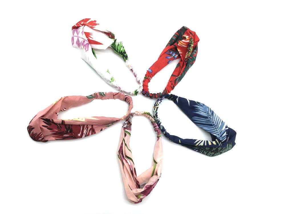 6 Bandeaux Femmes, Yofa Couleur Unie Douce et Extensible Bande de Cheveux arcs Accessoires pour la Mode YF-H-005