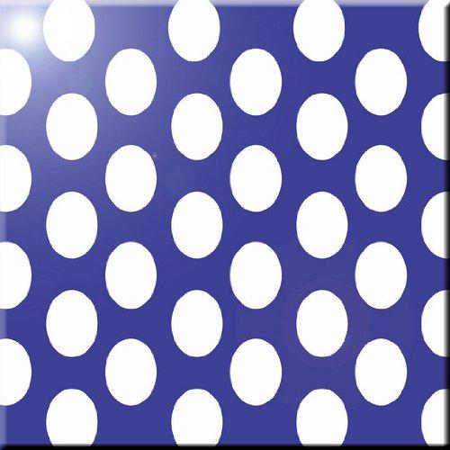 Rikki Knight Blue Polka Dots Design Ceramic Art Tile 8 x 8