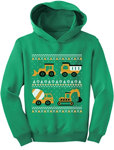 Tractors & Bulldozers Ugly Christmas Sweater Hoodie