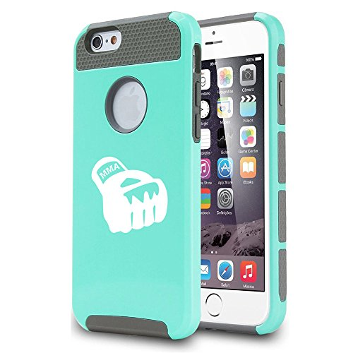 For Apple iPhone 5 5s Shockproof Impact Hard Case Cover MMA Boxing Glove (Teal)