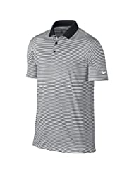 NIKE Men\'s Dry Victory Stripe Polo, Black/White, 2X-Large