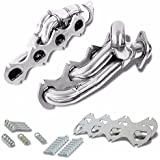 BFC-BuildFastCar 11-1002 Stainless Steel Exhaust Shorty Header Manifold Set For Ford 05-10 F250/F350 SuperDuty V8 5.4L SOHC