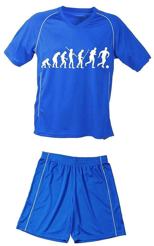 TRIKOT SET Fußball Evolution Kinder Fußball Trikot + Hose Kids 98-104, 110-116, 122-128, 134-140, 146-152, 158-164 cm schwarz, rot, blau. Grün, orange, weiß, gelb blau. Grün weiß