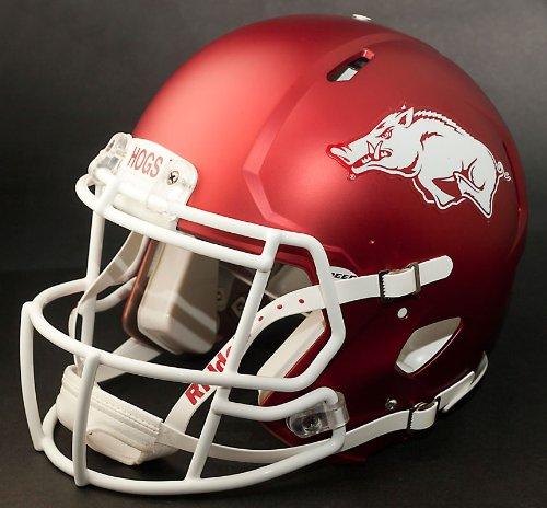 NCAA Arkansas Razorbacks Full Size Speed Replica Helmet, Red, Medium