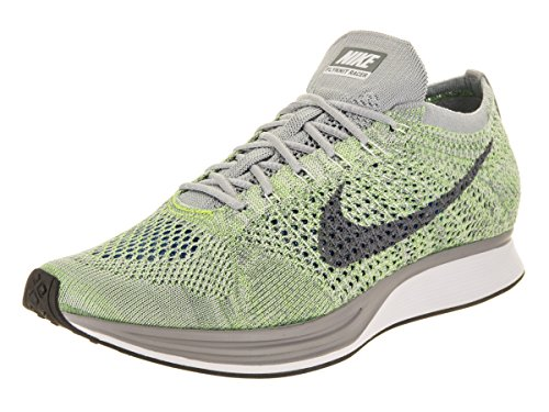 White Flyknit Unisex Running Racer Nike Grey Ghost Cool Shoe Green tX5qdgg