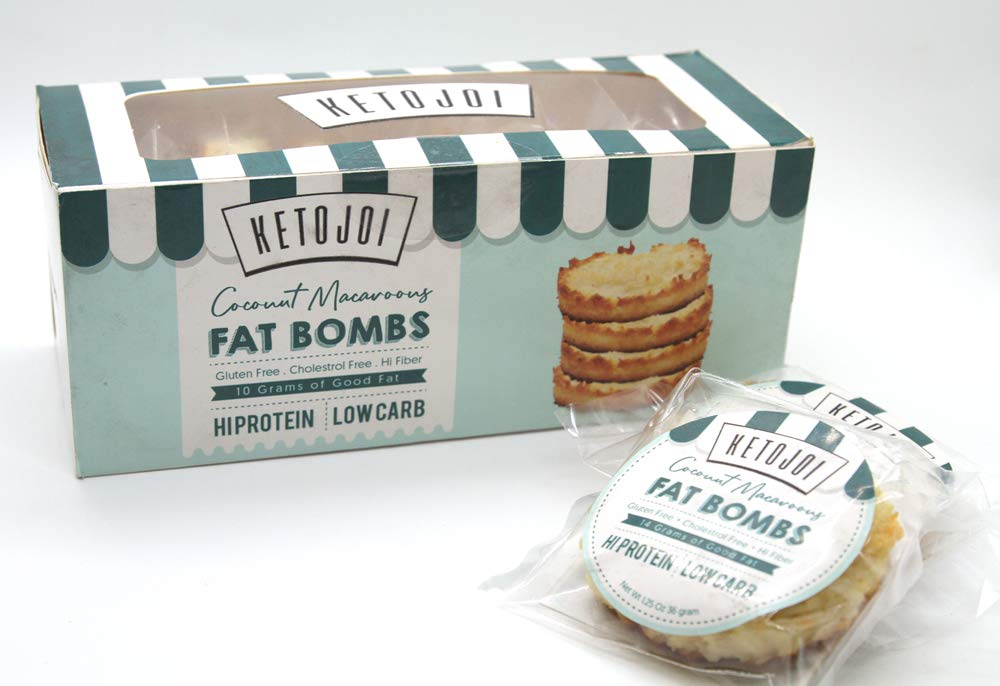Keto Low Carb Coconut Macaroon Fat Bombs by Keto Joi