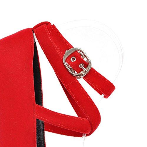 Lucksander Womens Sexy Tacco A Spillo Piattaforma Croce Cinturino Alla Caviglia Scarpe Tacco Alto Scarpe Rosse