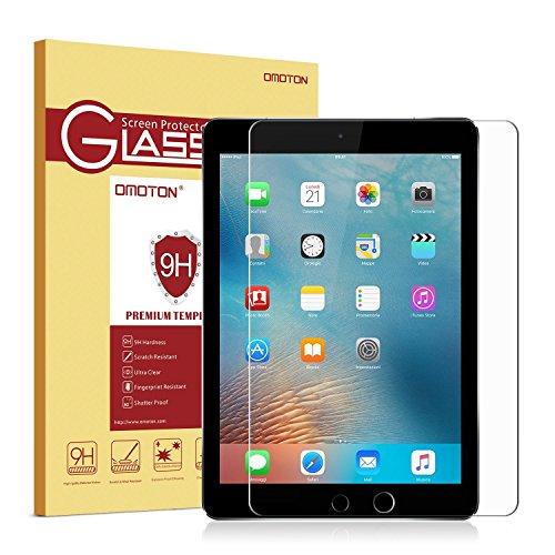 OMOTON Panzerglas Displayschutzfolie für iPad mini 4 mit [Apple Bleistift kompatibel ] [9H Härte] [Kristall-klar [kratzfest] [Luftbläschen-frei] [Lebenslage Garantie]
