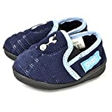 Tottenham Hotspur FC Official Childrens/Kids Soccer Goal Heel Slippers (9-10 US Child) (Navy/Light Blue)