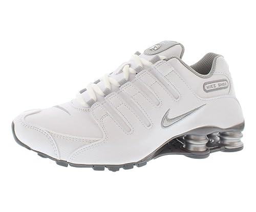 94256d39ef17b1 Amazon.com  Nike Shox NZ EU (White Metallic Silver Cool Grey ...