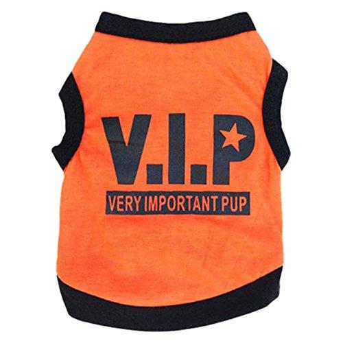 [FAPIZI New A Design Cute Pet Puppy Dog T-shirt Sport Ball Uniform Costumes Apparel (S, Orange)] (Cute Uniform Outfits)