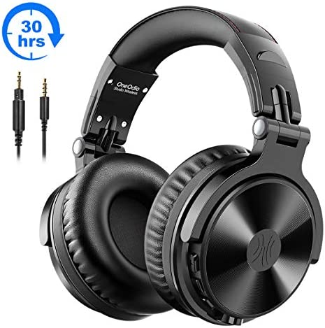 [Gesponsert]Bluetooth Kopfhörer Over Ear OneOdio Geschlossene Studio Kopfhörer Kabellos mit 30 Stunden Spielzeit Wireless Kopfhörer On Ear Headphones mit CVC 8,0 Mikrofon für Smartphone PC iPad Laptop(Schwarz)