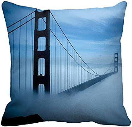 Antena View del puente Golden Gate de antiniebla patrón funda ...