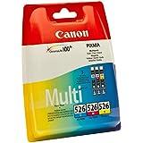 Canon CLI-526 - Pack de 3 cartuchos de tinta original, tricolor (cian, magenta, amarillo)