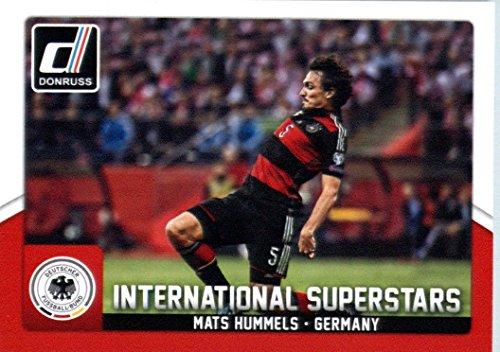 2015 Donruss International Superstars #30 Mats Hummels Germany Soccer Card-MINT (Mint Hummel)