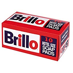 Hotel Size Brillo Pads - 120 per case - 12 boxes of 10 pads HOTBRL Continental Commercial Products