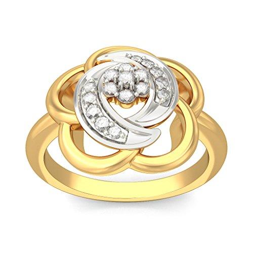 Or jaune 18K, 0.09carat Diamant Blanc (IJ | SI) en diamant