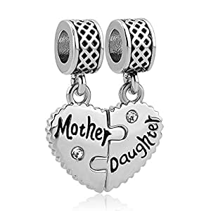Amazon Com Charmsstory Heart Love Mom Mother Daughter Son