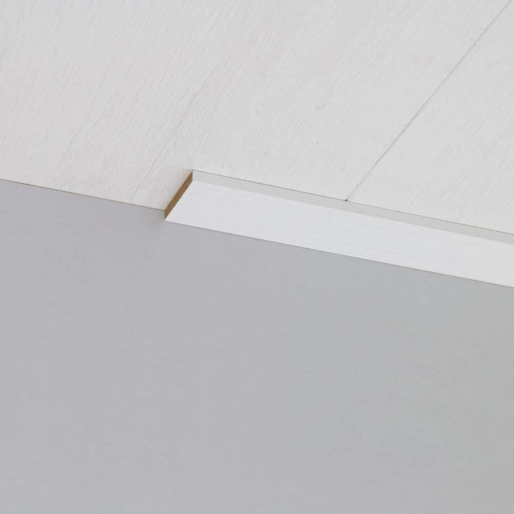Abdeckleiste Abschlussleiste Sockelleiste Wandschutzleiste aus MDF in Candela Wei/ß 2600 x 6 x 40 mm