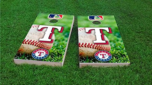 (Tailgate Pro's Texas Baseball Cornhole Boards, ACA Corn Hole Set, Comes with 2 Boards and 8 Corn Filled Bags)