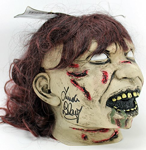 Linda Blair Authentic Signed The Exorcist Mask Autographed In Black PSA/DNA