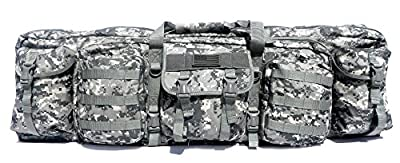 "East West U.S.A RTGC604L 42"" Double Tactical Molle Soft Padded Rifle Long Hunting Bag"