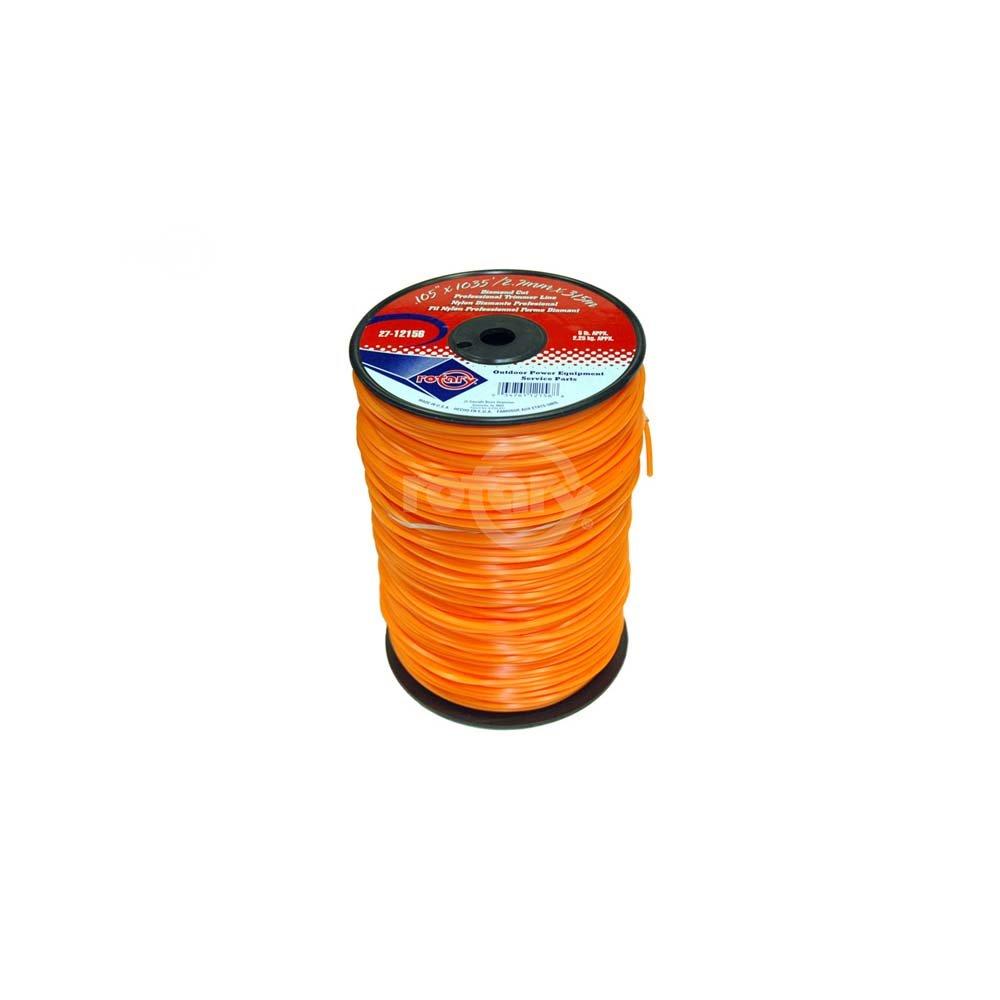 Trimmer Line .105 5# Spool Orange Diamond Line