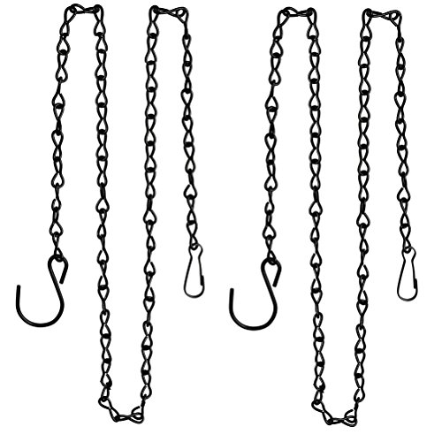 HSAN 2 Pack 35 Inch Hanging Chain,Black Hanging Chains Metal Chain for Hanging Baskets Bird Feeder Chain Hanging Planters Chain Lantern Chain