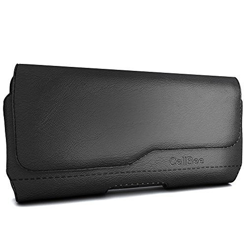 UPC 791102451851, Galaxy S7 Holster, CellBee Premium PU Leather Pouch Carrying Case with Belt Clip Belt Loops Holster (Perfect Fits with Otterbox/Spigen/Lifeproof Case on) (Fashion)