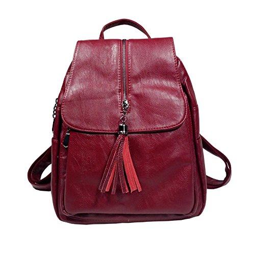 BINCCI Leather Backpack Purse Women Shoulder Bag Handbag for School,travel
