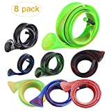 Expandable Spinning Casting Fishing Rod Covers Sleeves , Tube Pole Glove Socks Clothes For Fly, Spinning,Casting, Sea Fishing Rod Protector Tools Accessories, Fishing Rod Tackle Storage Wraps (8 Pack)