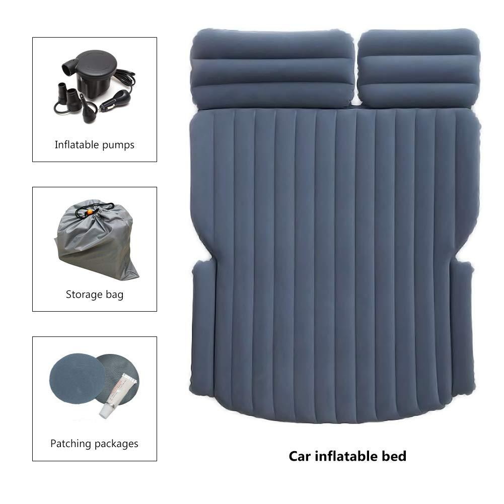 Environmental Material SUV Car Travel Car Air Mattress Fast Inflation Portable Car Camp Inflatable Car Mattress Gray