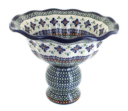 Polish Pottery Mosaic Flower Pedestal Fruit (Mosaic Fruit)