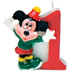 Amazon.com: Disney Mickey Mouse Vela Número 1: Toys & Games