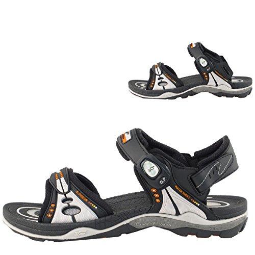 Gold Pigeon Shoes Gp9153 Uomo Donna Air Max Sandali Sportivi Con Chiusura A Scatto Con Supporto Ad Arco 7676 Nero Grigio