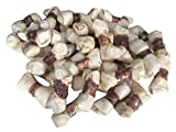 123 Treats | All Natural Rawhide Bones Wrapped with Chicken 4-5 Inches (50 Count) Premium Quality Bones