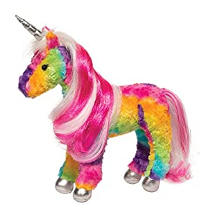 Douglas Joy Rainbow Princess Unicorn Plush Stuffed Animal